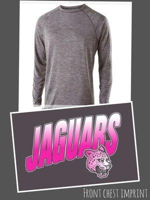 Long Sleeve Performance Shirt - NEON PINK JAGUAR FADE chest imprint