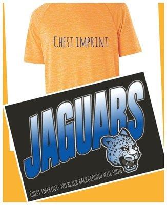SHORT SLEEVE Performance Shirt - ROYAL JAGUAR FADE chest  imprint