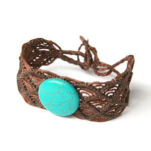 Wrist Band with Turquoise Stone