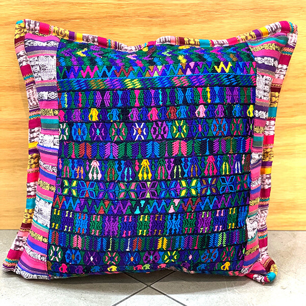 Embroidered Cushion Covers- Blue Mosaic