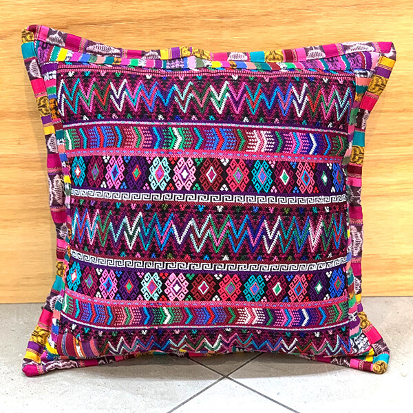 Embroidered Cushion Covers- Maroon Mosaic