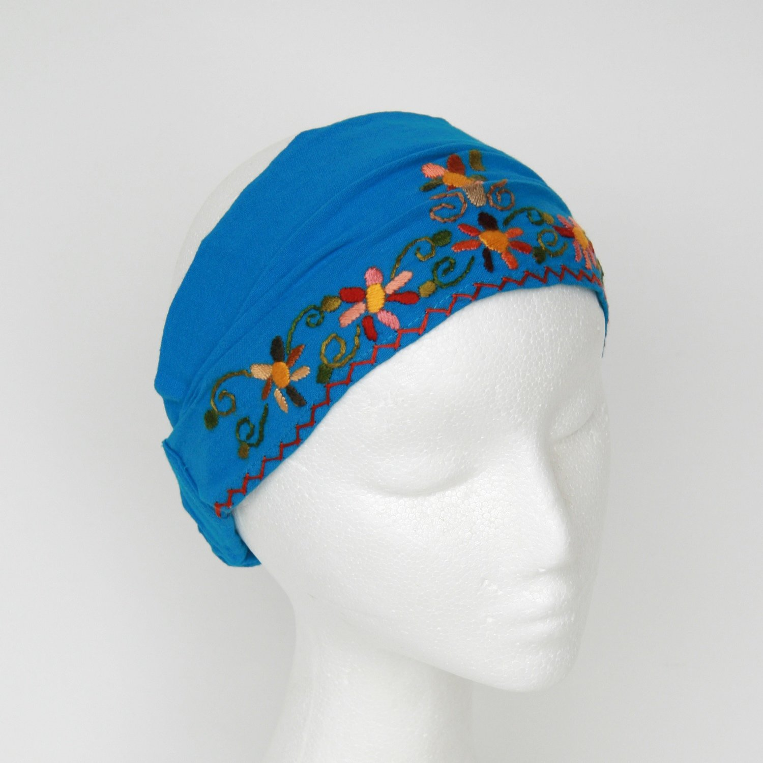 Embroidered Headscarf with Elastic