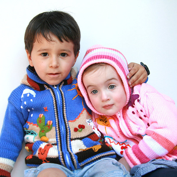 Embroidered Zip-up Cardigans 1yr (suitable for 6m-18m)