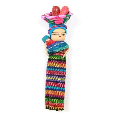 Worry Dolls with Fridge Magnet