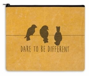 Zippered Canvas Bag - Dare to Be Different