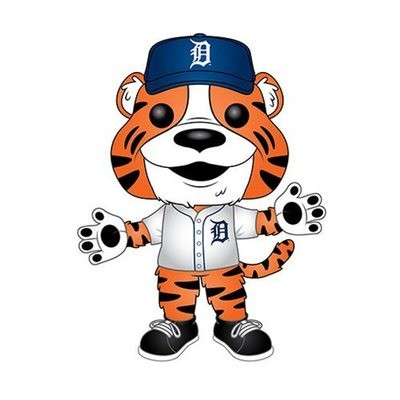 MLB Detroit Tigers Paws Pop! Vinyl Figure