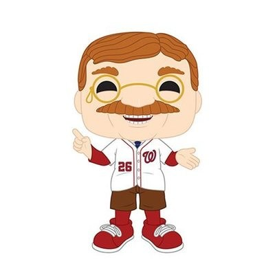 MLB Washington Nationals Teddy Roosevelt Pop! Vinyl Figure