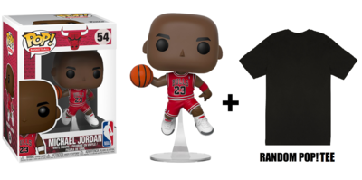 *** FOR PROVINCIAL ORDER ONLY** SPECIAL BUNDLE Michael Jordan Red Jersey Jumpman POP! Vinyl Figure + Random POP! Tee *** FOR SHIPPING ONLY***