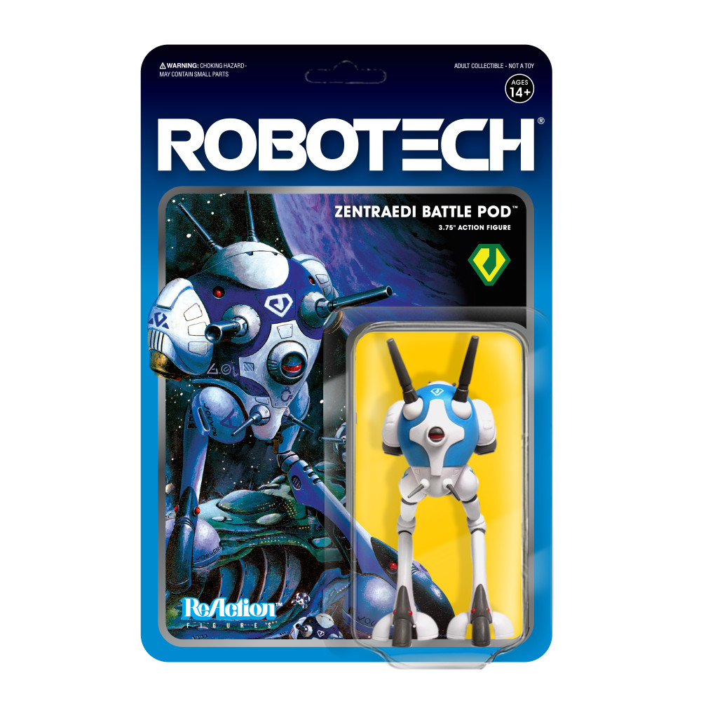 "PRE-ORDER Robotech Zentraedi Battle Pod 3.75"" Reaction Figure"