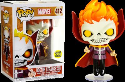 PRE-ORDER Exclusive Doctor Strange as Ghost Rider Glow in the Dark Pop! Vinyl Figure