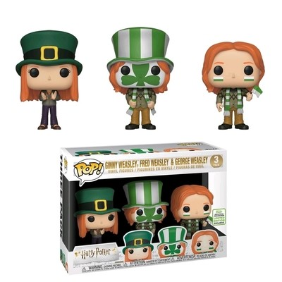 PRE-ORDER arry Potter - Ginny, Fred & George Weasley World Cup Pop! Vinyl Figure (2019 Spring Convention Exclusive) ***FULL PAYMENT ONLY***
