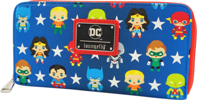 "PRE-ORDER Justice League - Chibi 8"" Faux Leather Zip-Around Wallet"