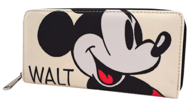 "PRE-ORDER Disney - Mickey Mouse Classic Print 8"" Faux Leather Zip-Around Wallet"