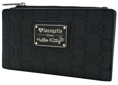"PRE-ORDER Hello Kitty - Black Debossed 7"" Faux Leather Bifold Wallet"
