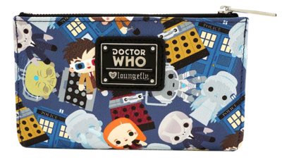 "PRE-ORDER Doctor Who - Chibi Print 6"" Faux Leather Bifold Wallet"