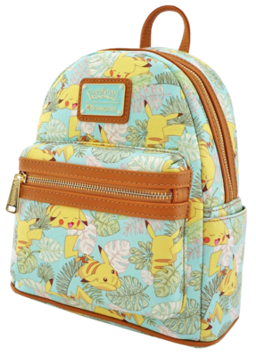 "PRE-ORDER Pokemon - Pikachu Leaves 10"" Faux Leather Mini Backpack"