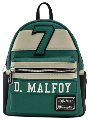 "PRE-ORDER Harry Potter - Draco Malfoy Slytherin 10"" Faux Leather Mini Backpack"
