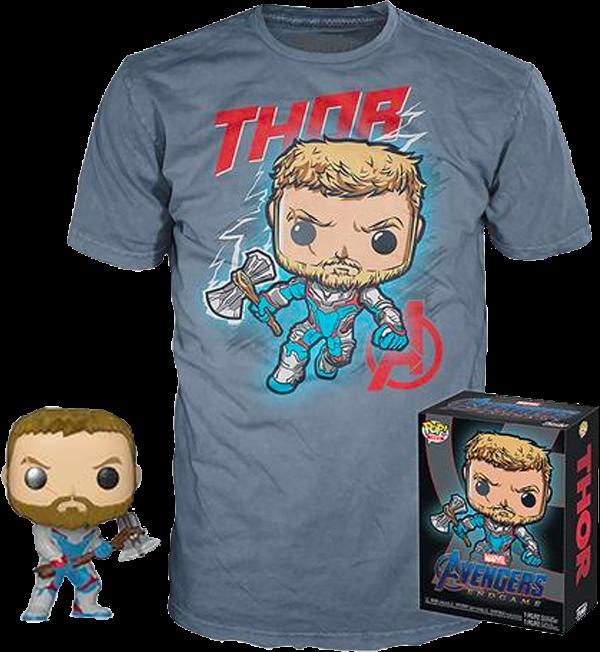 PRE-ORDER Avengers 4: Endgame - Thor Pop! Vinyl Figure & T-Shirt Box Set