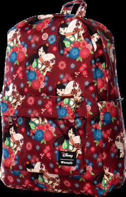 "PRE-ORDER Mulan - Mulan Floral Print 17"" Backpack"