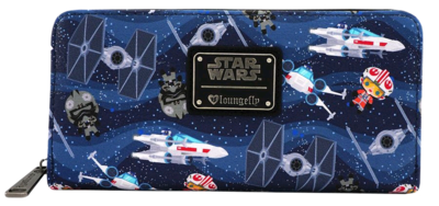 "PRE-ORDER Star Wars - Chibi Ships 8"" Faux Leather Zip-Around Wallet"
