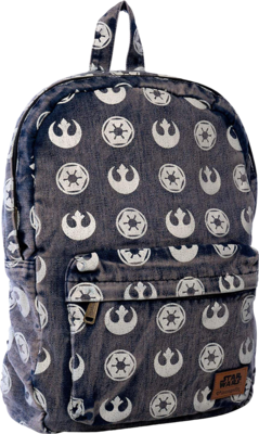 "PRE-ORDER The Star Wars - Emblems Print 18"" Denim Backpack"