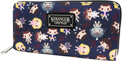 "PRE-ORDER Stranger Things - Eleven Chibi 8"" Faux Leather Zip-Around Wallet"