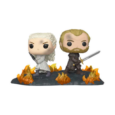 PRE-ORDER Game of Thrones Daenerys and Jorah with Swords Pop! Vinyl Moment