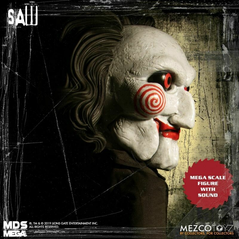 PRE-ORDER MDS Megasize Talking Billy Saw Series