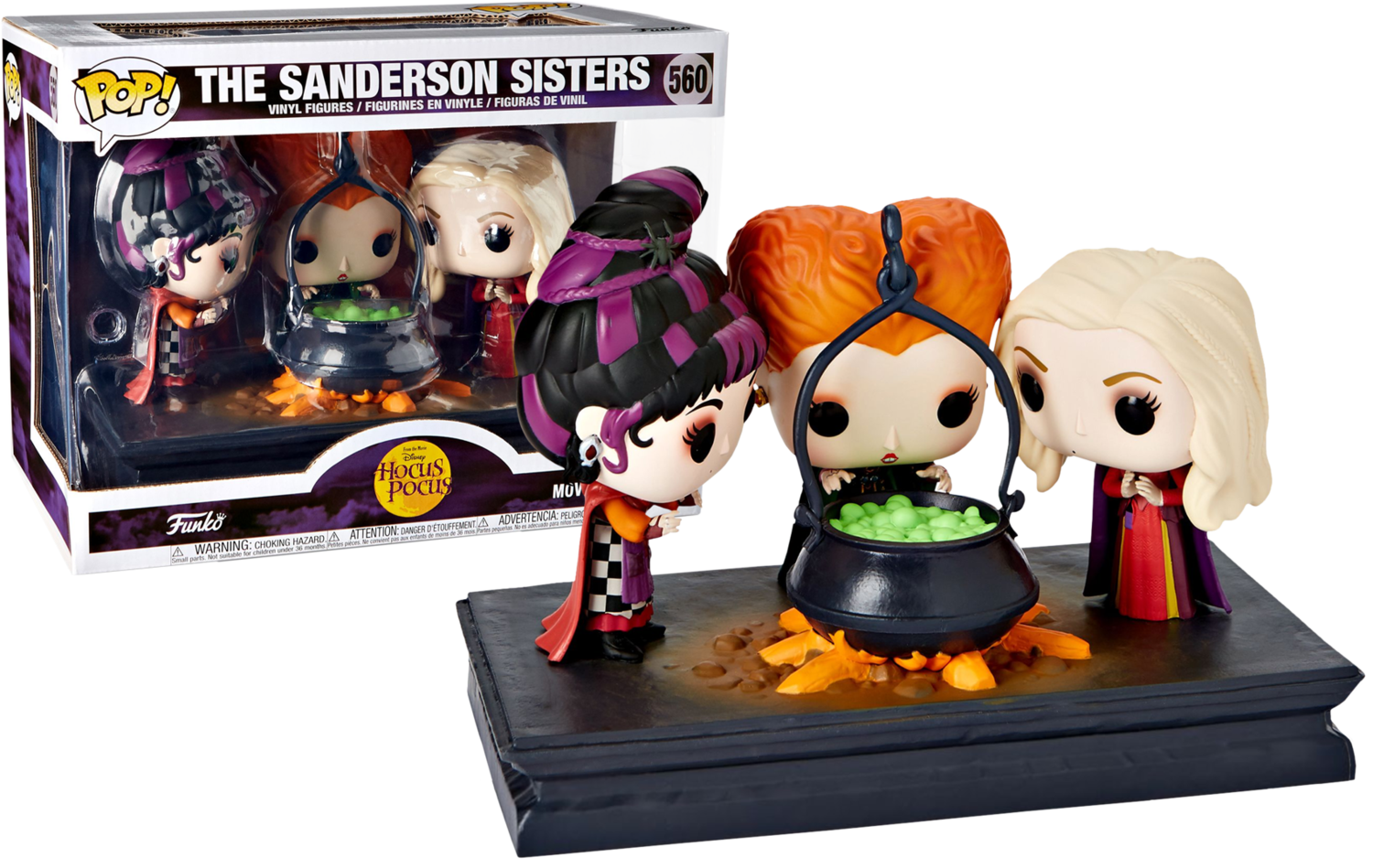 PRE-ORDER Exclusive Hocus Pocus (1993) - The Sanderson Sisters Movie Moments Pop! Vinyl Figure 3-Pack