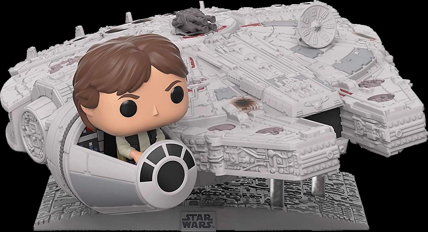 "PRE-ORDER Exclusive Star Wars - Han Solo with Millenium Falcon 13"" Deluxe Pop! Vinyl Figure"