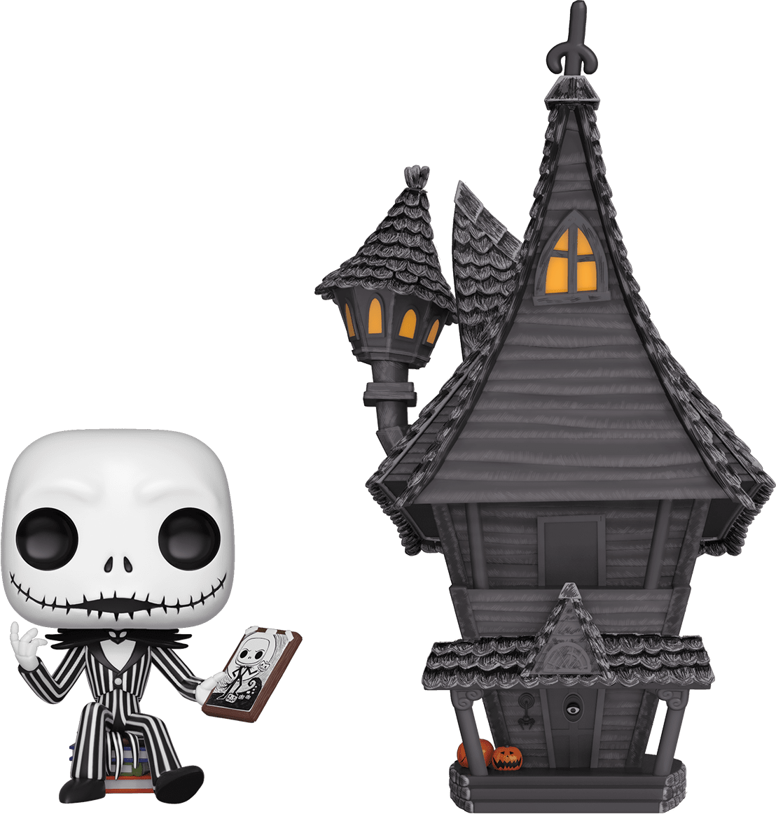 PRE-ORDER The Nightmare Before Christmas - Jack Skellington with Jack's House Pop! Town Vinyl Figure