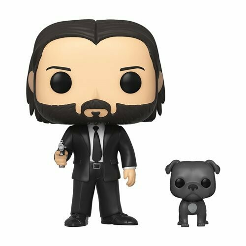 John Wick- John in Black Suit w/ Dog Buddy Pop! Vinyl Figure
