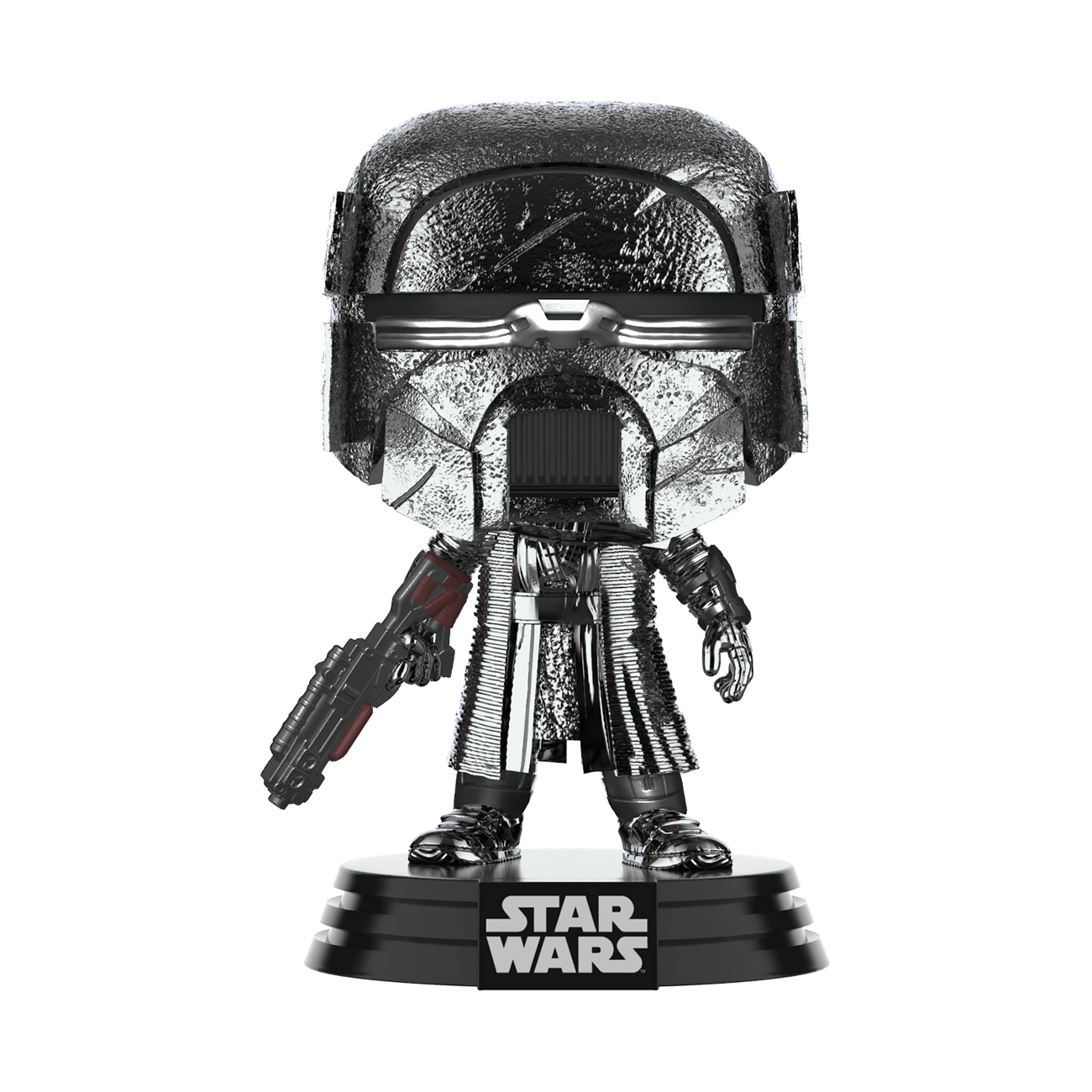 Star Wars: The Rise of Skywalker Hematite Chrome Knight of Ren Blaster Pop! Vinyl Figure