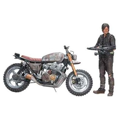 The Walking Dead Daryl Dixon Action Figure and Motorcycle Version 2 Deluxe Box Set