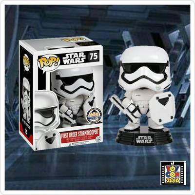 Star Wars: The Force Awakens First Order Riot Control Stormtrooper with Shield POP! Vinyl Bobble Head Big Boys Exclusive