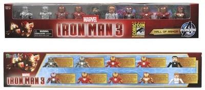 SDCC 2013 Ironman 3 Hall of Armor Minimates Box Set