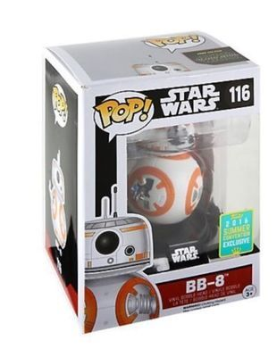 Star Wars : The Force Awakens BB-8 Thumbs Up Pop! Vinyl Figure Summer Convention Exclusive