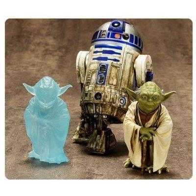 Star Wars Yoda and R2-D2 Dagobah ArtFX+ Statue 3-Pack
