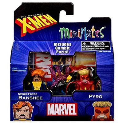Marvel X-Men Vs. Brotherhood Minimates Series 60 Strike Force Banshee & Pyro Minifigure 2-Pack
