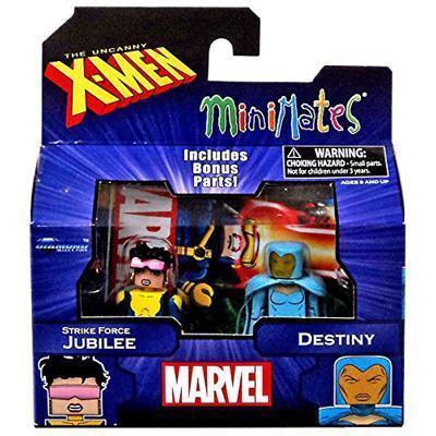 Marvel X-Men Vs. Brotherhood Minimates Series 60 Jubilee and Destiny Minifigure 2 - Pack