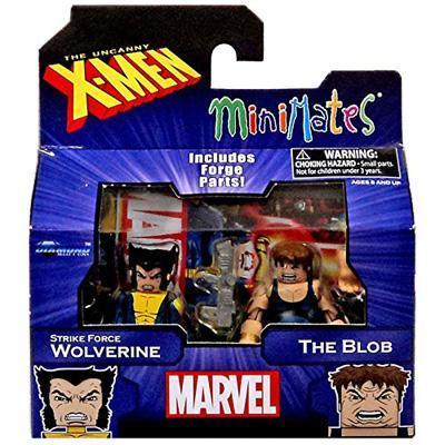 Marvel X-Men Vs. Brotherhood Minimates Series 60 Strike Force Wolverine & The Blob Minifigure 2-Pack