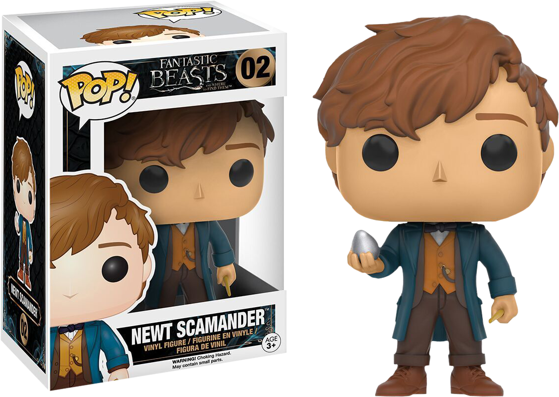 Fantastic Beasts and Where to Find Them - Newt Scamander with Egg Pop! Vinyl Figure
