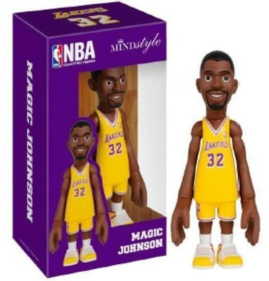 MINDstyle x Coolrain NBA Los Angeles Lakers Magic Johnson Arena Box Figure (Yellow)