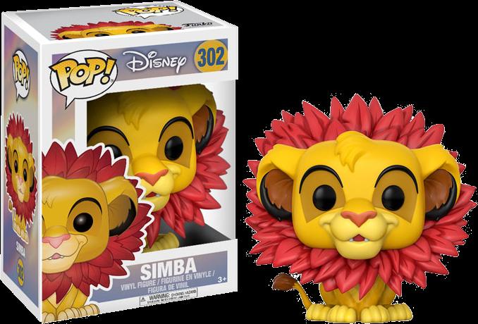 The Lion King - Simba Leaf Mane Pop! Vinyl Figure