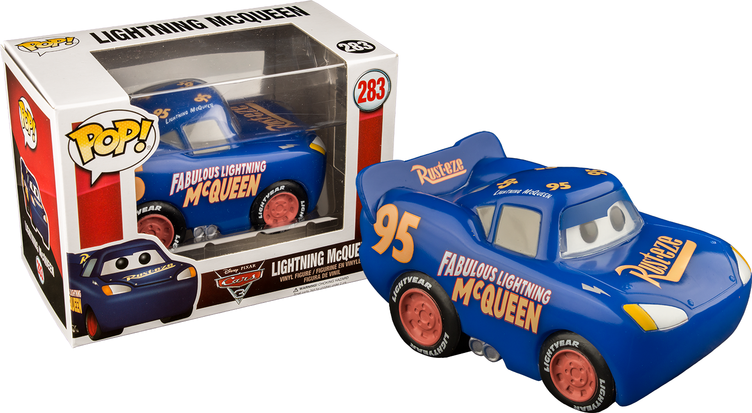 Cars 3 - Lightning McQueen Blue Pop! Exclusive Vinyl Figure