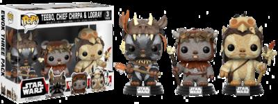 PRE-ORDER Star Wars - Teebo, Chief Chirpa, Logray Exclusive Pop! 3-Pack