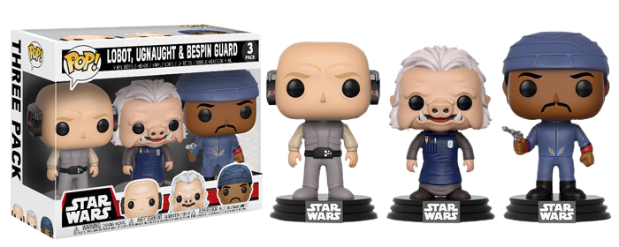 Star Wars - Lobot, Ugnaught, Bespin Guard Exclusive Pop! Vinyl 3-Pack
