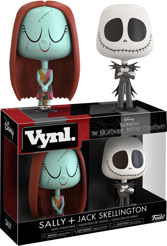 The Nightmare Before Christmas - Jack and Sally Vynl. Vinyl Figure 2-Pack
