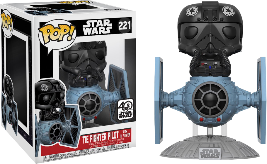 Star Wars - TIE Fighter Pilot with TIE Fighter Deluxe Pop! Vinyl Figure