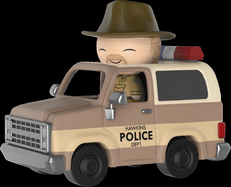 Stranger Things - Hopper in Sheriff Deputy Truck Dorbz Ridez Vinyl Figure